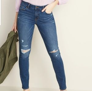 Mid-Rise Distressed Pop Icon Skinny Jeans